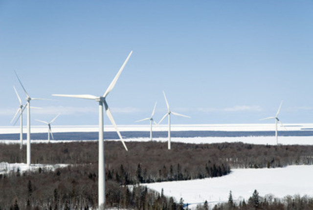Prince Wind Farm, Sault Ste Marie, Ontario. Courtesy of the Canadian Wind Energy Association's photo library. (CNW Group/Canadian Wind Energy Association)