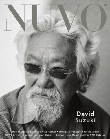 "David Suzuki, a global beacon for environmental activism, recently released Letters to My Grandchildren, the 55th book to bear his name. ""I always thought of myself as a messenger,"" Suzuki says. ""To become so closely identified with the message has been a mixed blessing."" www.nuvomagazine.com (CNW Group/NUVO Magazine Ltd.)"