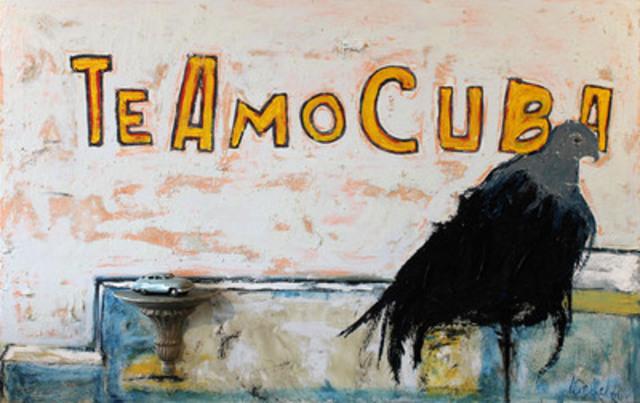 Te amo Cuba, huile sur toile, 2013 (Groupe CNW/Lénetsky)