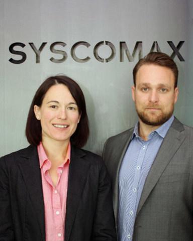 Mélissa Robitaille, directrice générale et Jean-Philip Robitaille, vice-président, Développement des affaires, assument la coprésidence de Syscomax. (Groupe CNW/Syscomax)