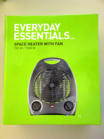 Everyday Essentials (TM) Space Heater with Fan 750W/1500W In Package (CNW Group/Loblaw Companies Limited)