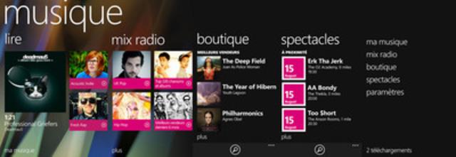 Lancement de Nokia Musique au Canada (Groupe CNW/Nokia Canada)