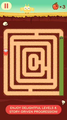 Players must fill subterranean labyrinths while being chased by deadly moles (CNW Group/Trompo Games Inc.)