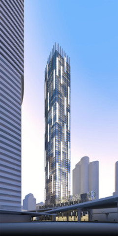 Proposed 75-storey signature residential building will change the City's skyline and link the downtown to its waterfront (CNW Group/Build Toronto Inc.)