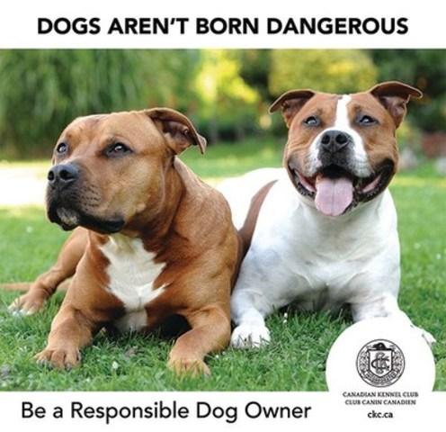 Dogs aren't born dangerous. Be a responsible dog owner. The Canadian Kennel Club. CKC.ca (CNW Group/Canadian Kennel Club)