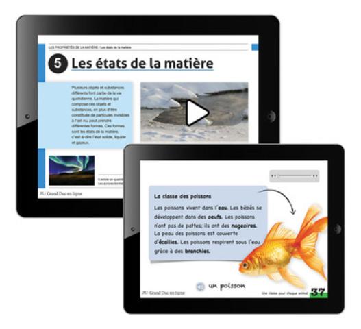 Les manuels scolaires pour iPad des Éditions Grand Duc, premier éditeur numérique, peuvent maintenant être lus sur les ordinateurs Mac (Groupe CNW/Éditions Grand Duc)