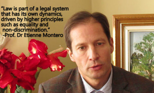 Professor Dr. Etienne Montero, Dean of the Faculty of Law, University of Namur, Belgium (CNW Group/Coalition of Physicians for Social Justice)