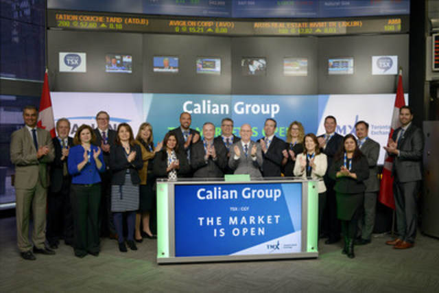 Kevin Ford, President and Chief Executive Officer, Calian Group Ltd., (CGY), joined Ungad Chadda, Senior Vice President, Toronto Stock Exchange to open the market. Calian was founded in 1982 as an Ottawa-based consulting firm, providing government and industry customers a range of service offerings, including: IT & Professional Services, Training, Health, and Systems Engineering and Manufacturing. Calian employs over 2,500 people with offices across Canada and projects that span domestic and international markets. Calian Group Ltd. commenced trading on Toronto Stock Exchange on September 15, 1993. For more information, please visit www.calian.com. (CNW Group/TMX Group Limited)