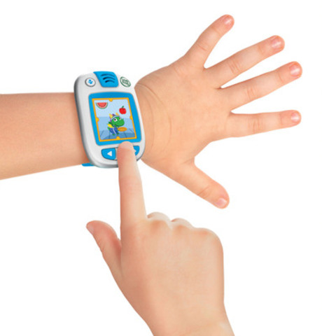 The LeapBand is the first wearable activity tracker designed just for children that encourages active play and healthy habits while nurturing their very own personalized virtual pet. (CNW Group/LeapFrog Enterprises, Inc.)