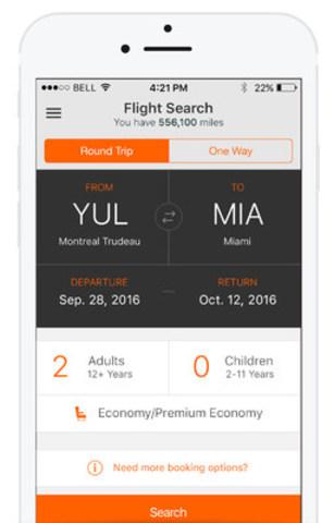 Aeroplan app (CNW Group/Aeroplan)
