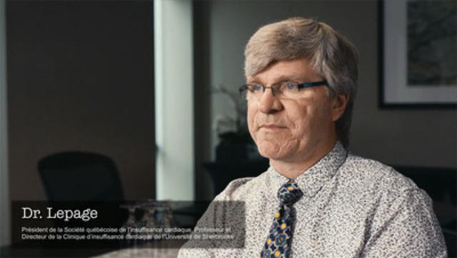 Vidéo : Dr Serge Lepage au sujet d'insuffisance cardiaque