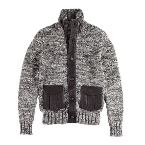 Wool Cardigan with Leather Details $89.99 compare at $160 (CNW Group/Winners)
