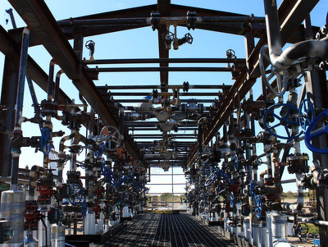 PRO-V Mfg. Inc. - Manifold Skid for SHELL North of Peace River, AB. (CNW Group/Supreme Group)