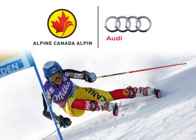 Les skieurs d'Alpine Canada Alpin les plus performants en Coupe du monde se voient remettre un vehicule par Audi. (Groupe CNW/Alpine Canada Alpin)
