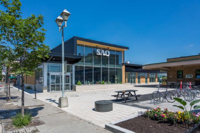 Un tout nouveau bâtiment écoresponsable pour la SAQ au cœur du Marché Jean-Talon! (Groupe CNW/Société des alcools du Québec - SAQ)