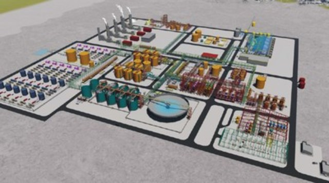 Figure 1 - Initial 50,000 tpa Rincón Plant General Layout (3D Isometric View) (CNW Group/Enirgi Group Corporation)
