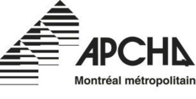 Association des professionnels de la construction et de l'habitation du Québec (APCHQ) (Groupe CNW/APCHQ Région du Montréal métropolitain)