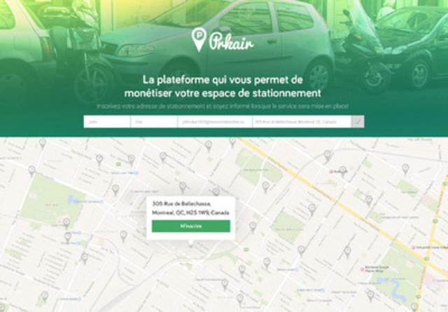 La plateforme qui vous permet de monétiser votre espace de stationnement (Groupe CNW/WE_ARE)