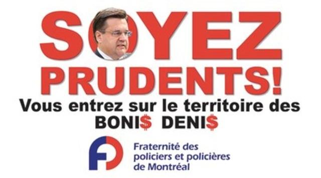 Boni$ Deni$ : la Fraternité lance une campagne de sécurité routière (Groupe CNW/Fraternité des policiers et policières de Montréal)