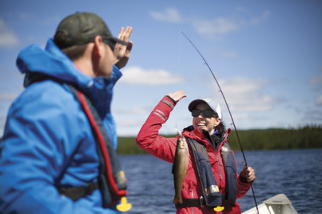 Pêche et villégiature dans les réserves faunique, c'est bientôt le temps de réserver. Crédit :  Réserve faunique de Port-Cartier-Sept-Îles Sépaq (Groupe CNW/Société des établissements de plein air du Québec)