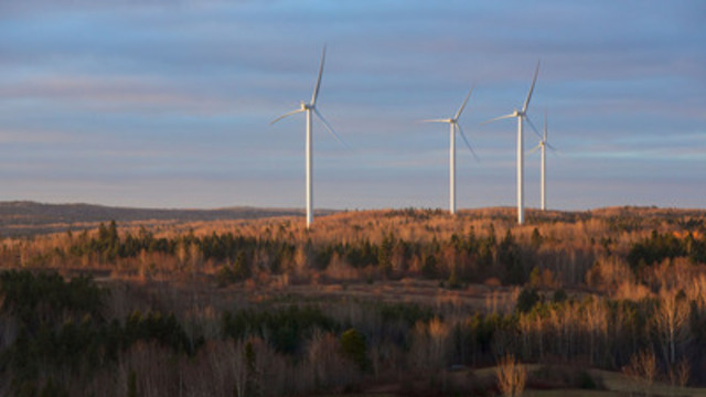 Viger-Denonville community wind farm in Quebec (CNW Group/Innergex Renewable Energy Inc.)