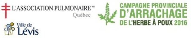 Logo: Association pulmonaire du Québec - Campagne d'arrachage de l'herbe à poux 2016 (Groupe CNW/Association pulmonaire du Québec)