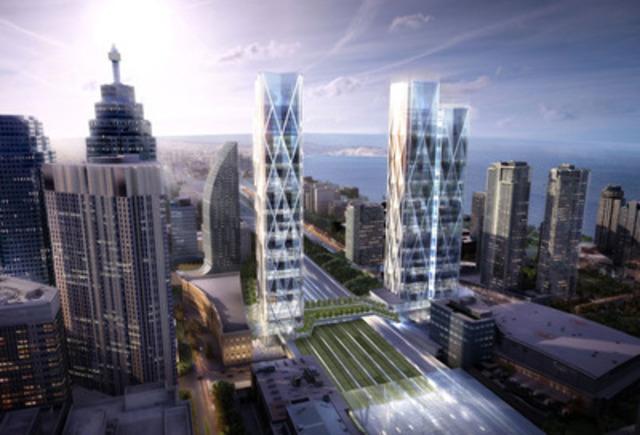 Ivanhoé Cambridge et Metrolinx collaborent au projet 45-141 Bay Street, un projet immobilier d'envergure intégrant des solutions de transports en commun au cœur du centre financier de Toronto (Groupe CNW/Ivanhoé Cambridge)