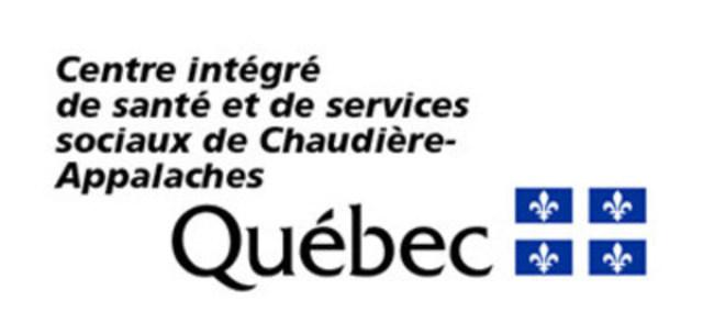 Centre intégré de santé et de services sociaux de Chaudière-Appalaches (Groupe CNW/Centre intégré de santé et de services sociaux de Chaudière-Appalaches)