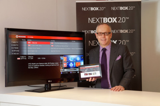David Purdy, Vice President, Video Products, Rogers Communications, demonstrates Rogers Live TV at NextBox 2.0 unveiling in Toronto. (CNW Group/Rogers Communications Inc.)