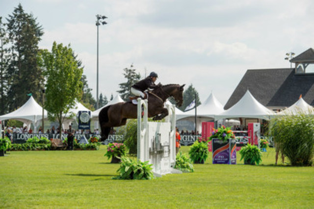 High stakes create an atmosphere of intense and exciting competition to watch Olympic Caliber Horse Jumping just outside Vancouver. Photo Credit: Aimée Makris, Moi Photography (CNW Group/Thunderbird Show Park)