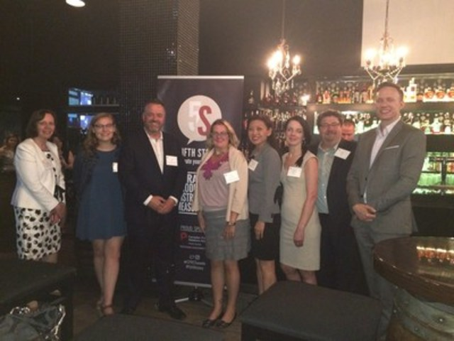 "Brad Ross with CPRS Toronto Board of Directors after his talk, ""Crisis? What Crisis?"" (CNW Group/Canadian Public Relations Society - Toronto)"
