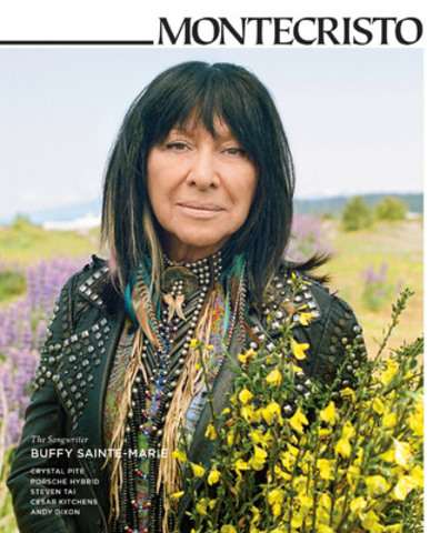 """Buffy Sainte-Marie discusses her life with MONTECRISTO: a music career spanning five decades, her role as an activist for peace and civil rights, and how the two interplay. """"It's not about being a naïve singer, but about reminding people they have to stand up for themselves,"""" she explains. www.montecristomagazine.com (CNW Group/MONTECRISTO Magazine)"""