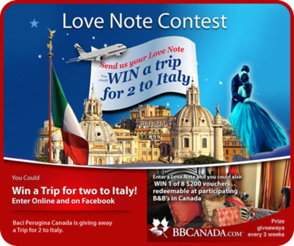 Love Notes Contest Promotion (CNW Group/Baci Chocolates)