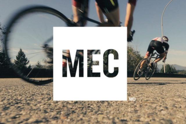 Au nouveau logo de MEC s'ajoutent des images vibrantes et une nouvelle terminologie inspirante qui constituent les piliers du repositionnement de la marque. (Groupe CNW/Mountain Equipment Co-op)