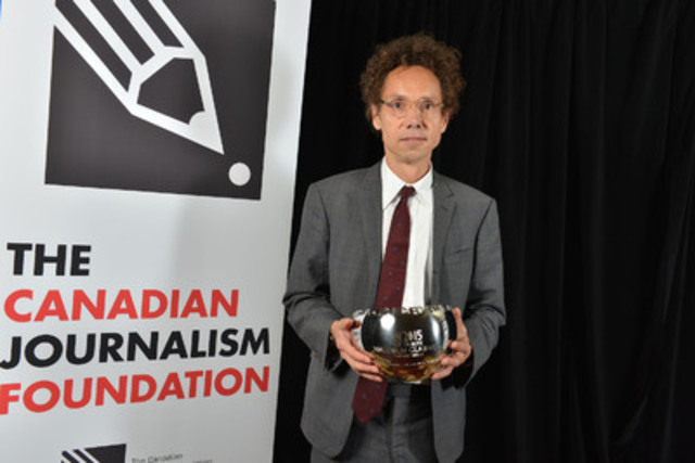 Malcolm Gladwell, author and staff writer for The New Yorker, was the recipient of the annual CJF Tribute, recognizing a Canadian media luminary who has had an impact on the international stage. (CNW Group/Canadian Journalism Foundation)