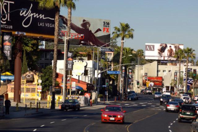 Ce sont dans les rues ensoleillées de Los Angeles où les voyageurs Canadiens ont payé le plus pour une chambre d'hôtel cinq-étoiles. (Groupe CNW/Hotels.com)