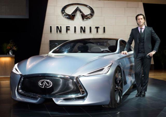 Le directeur général du design d'Infiniti Motor Company, Alfonso Albaisa, présente la future orientation conceptuelle de la marque avec le dévoilement de la Q80 Inspiration au Salon international de l''auto du Canada 2015 à Toronto. (Groupe CNW/Infiniti)