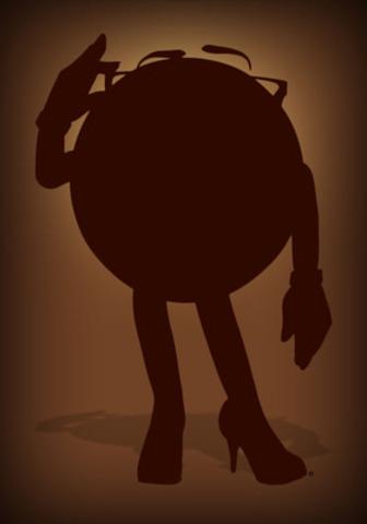 M&M'S® annonce son sixième personnage - premier coup d'œil de Mlle Brunette. (Groupe CNW/Mars Canada Inc.)