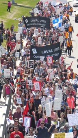Laval unie contre l'austérité (Groupe CNW/Laval unie contre l'austérité)
