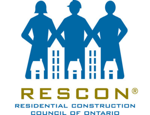 Residential Construction Council of Ontario (RESCON) (CNW Group/Residential Construction Council of Ontario (RESCON))