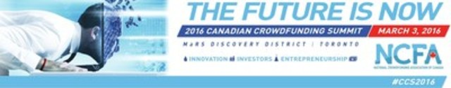 2016 Canadian Crowdfunding Summit (CNW Group/National Crowdfunding Association of Canada (NCFA Canada))
