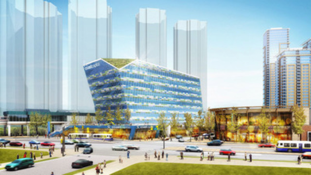 An artistic rendition of Coast Capital's planned new head office in Surrey (CNW Group/Coast Capital Savings Credit Union)