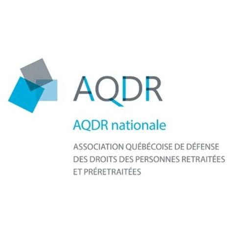 Logo: L'Association québécoise pour la défense des droits des retraités et préretraités (AQDR) (Groupe CNW/Association québécoise de défense des droits des personnes retraitées et préretraitées)