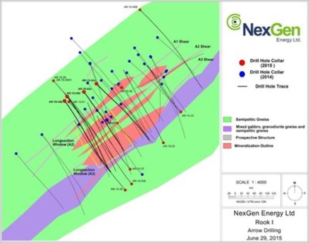 Figure 1: Arrow Zone Drill Hole Locations (CNW Group/NexGen Energy Ltd.)