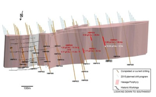 Figure 1 – Hasaga porphyry drilling (CNW Group/Premier Gold Mines Limited)
