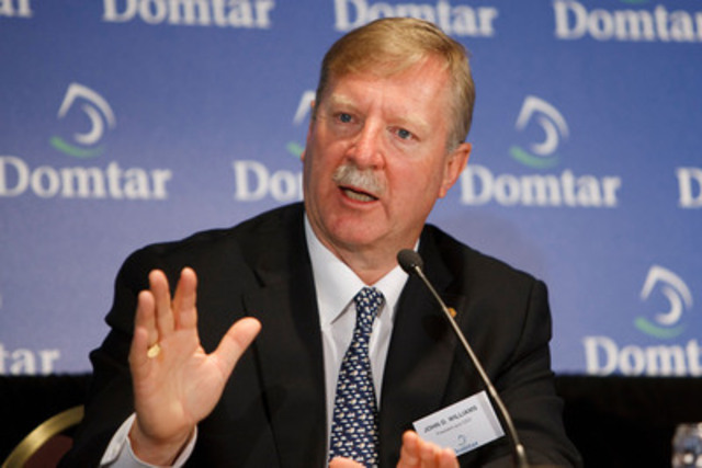John D. Williams, Président et chef de la direction, Domtar Corporation (Groupe CNW/Domtar Corporation)