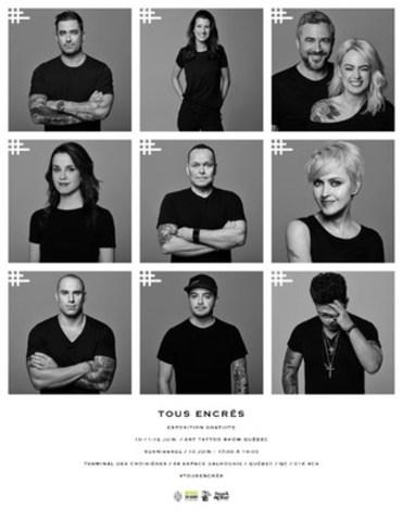 Tous Encrés - Nous sommes #tousencrés (Groupe CNW/Art Tattoo Québec)