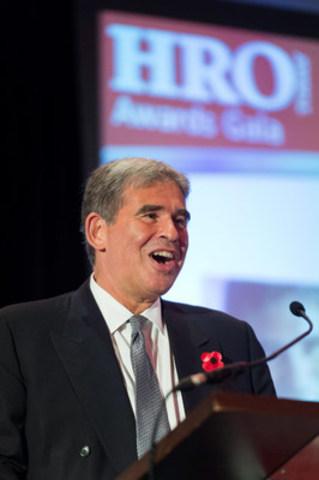 Peter Hart, PDG de Rideau au Forum EMEA de HRO Today à Édinbourg, en Écosse. (Groupe CNW/Rideau Solutions de reconnaissance)