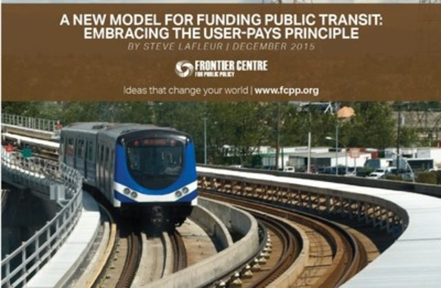 A New Model for Funding Public Transit. (CNW Group/Frontier Centre for Public Policy)