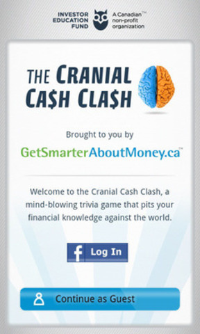 The Cranial Cash Clash mobile application (CNW Group/Investor Education Fund)